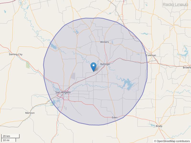 KKCN-FM Coverage Map