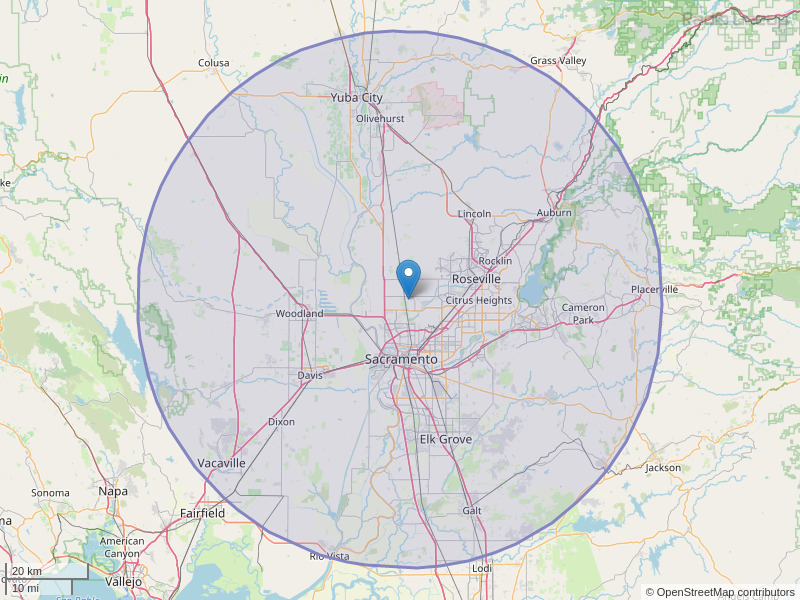 KBEB-FM Coverage Map