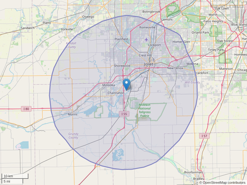 WCCQ-FM Coverage Map