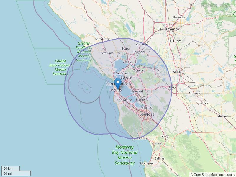 KMVQ-FM Coverage Map