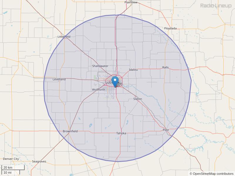 KAIQ-FM Coverage Map