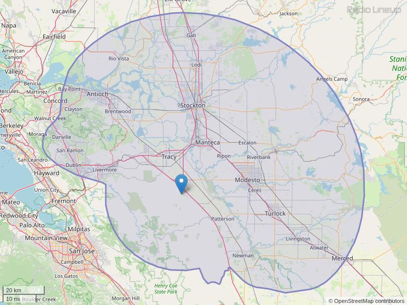 KATM-FM Coverage Map