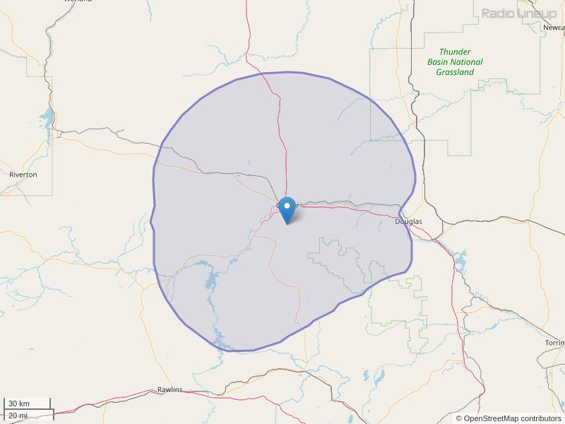 KMLD-FM Coverage Map