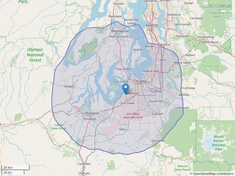 KVTI-FM Coverage Map