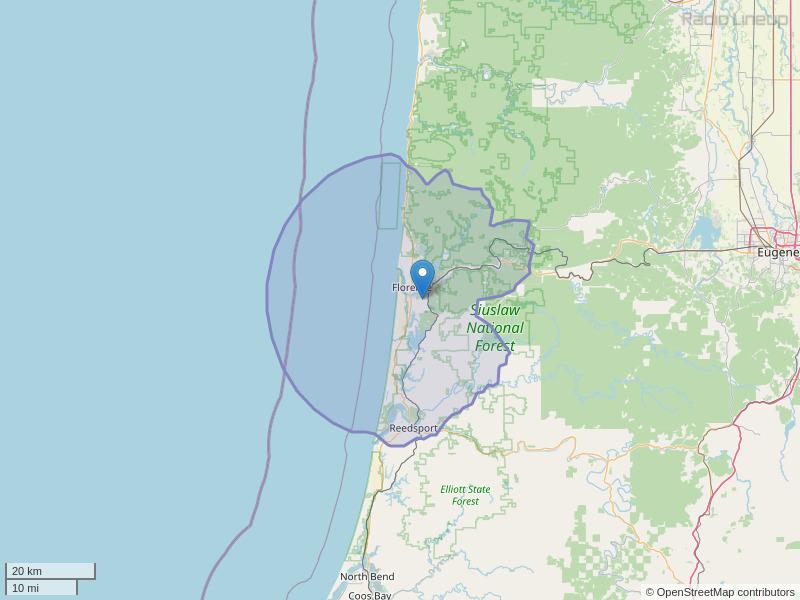 KCST-FM Coverage Map
