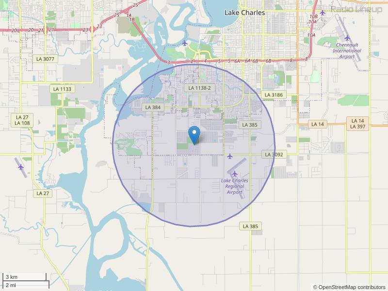 KELB-LP Coverage Map
