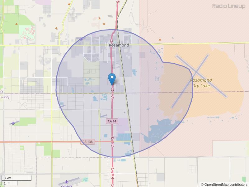 KFXM-LP Coverage Map