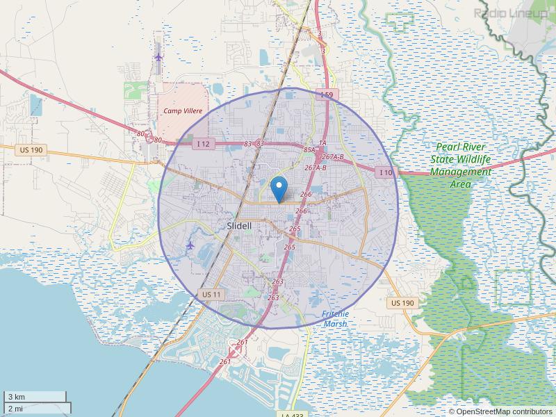 WGON-LP Coverage Map