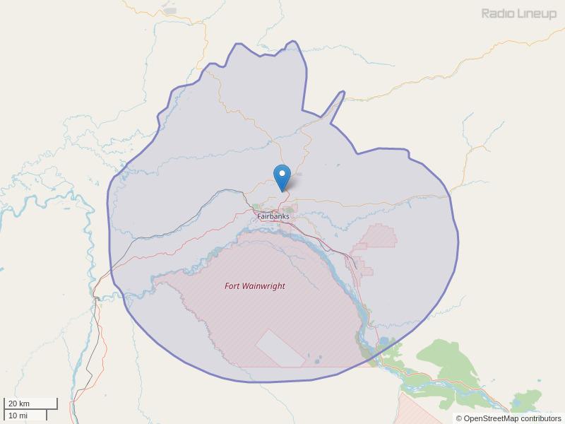 KIAK-FM Coverage Map