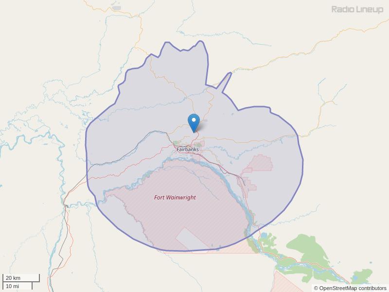 KAKQ-FM Coverage Map
