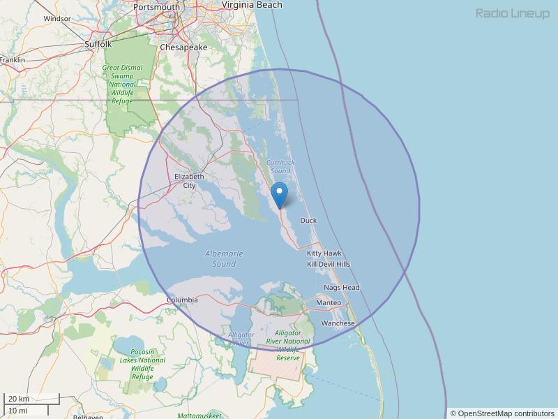 WFMI-FM Coverage Map
