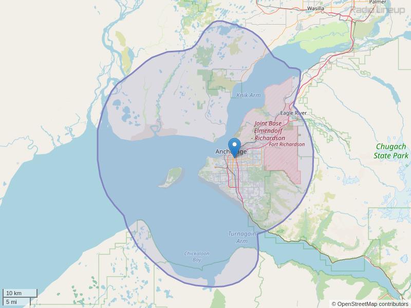 KBFX-FM Coverage Map