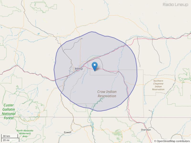 KCHH-FM Coverage Map