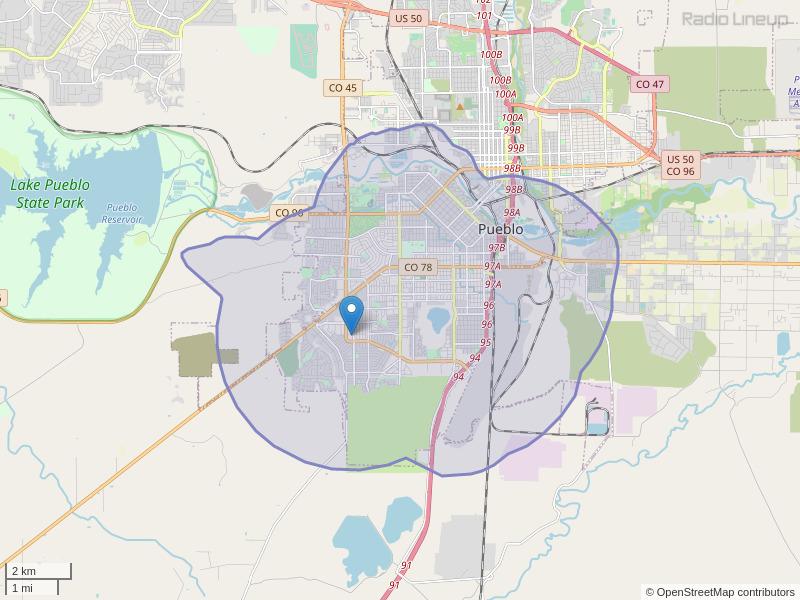 KTPJ-LP Coverage Map