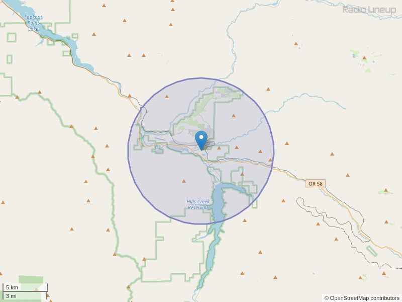KAVE-FM Coverage Map