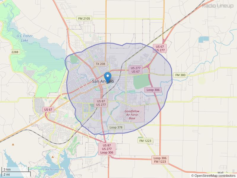 KCSA-LP Coverage Map