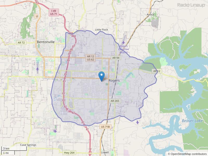 KDUA-LP Coverage Map