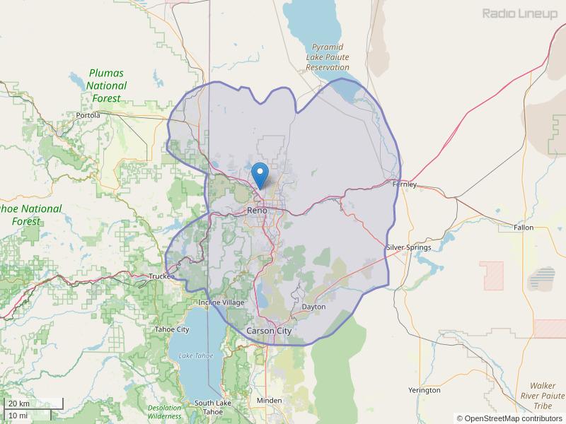 KRAT-FM Coverage Map