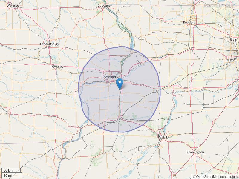 WXLP-FM Coverage Map