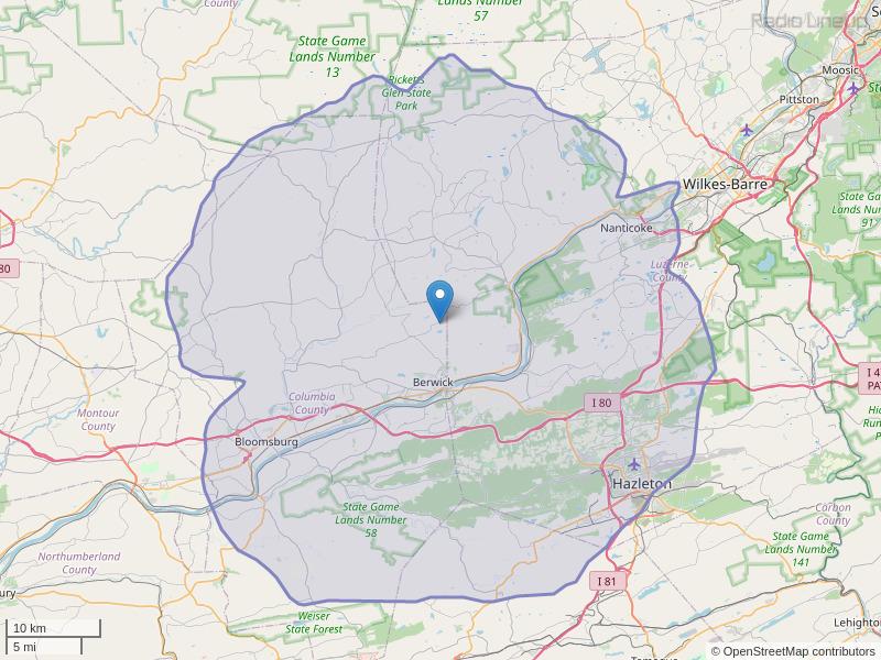 WMMZ-FM Coverage Map