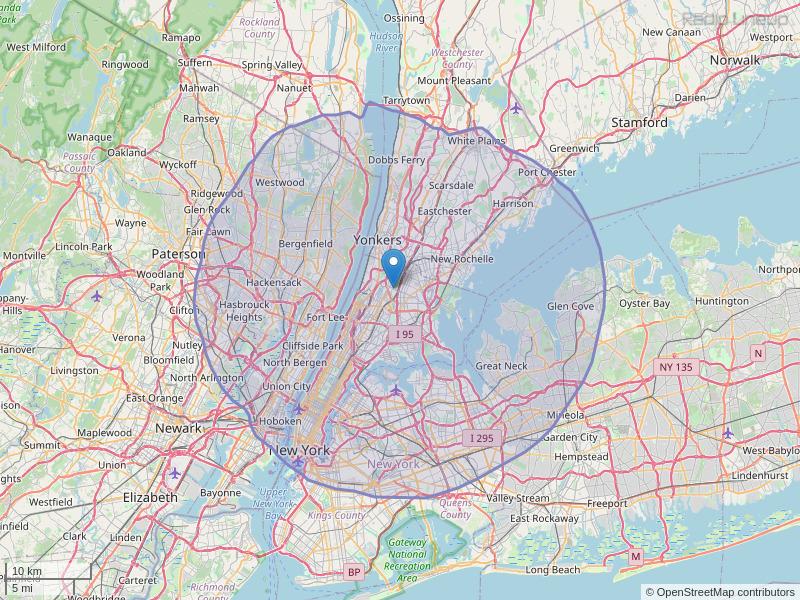 WNBM-FM Coverage Map