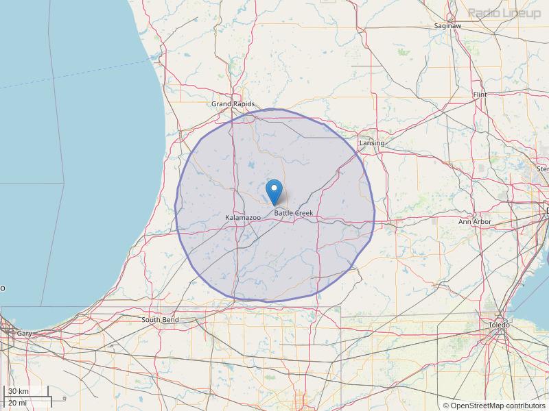 WKFR-FM Coverage Map