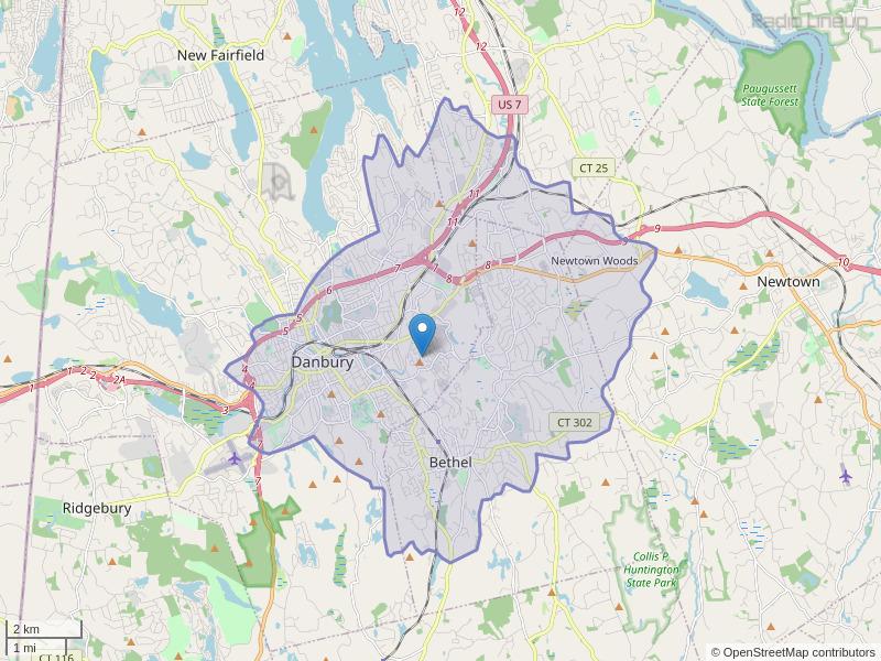 WFAR-FM Coverage Map