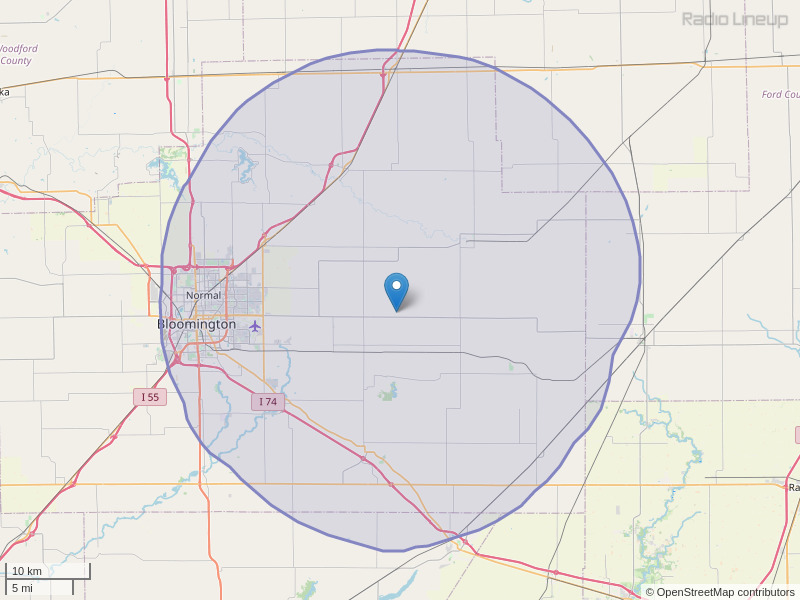 WRPW-FM Coverage Map