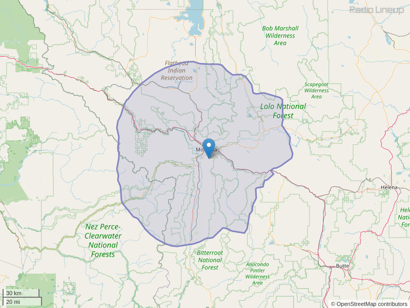 KKVU-FM Coverage Map