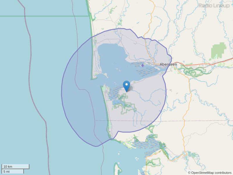 KLWA-FM Coverage Map