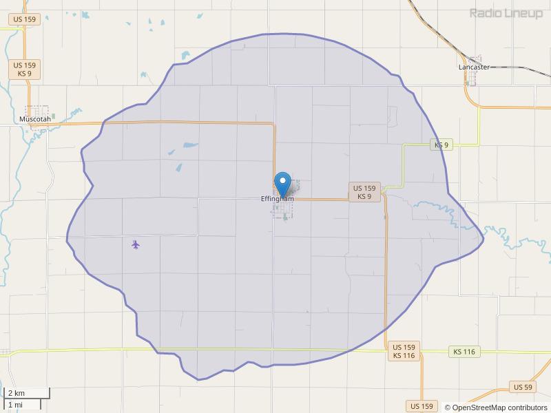 KDVB-FM Coverage Map