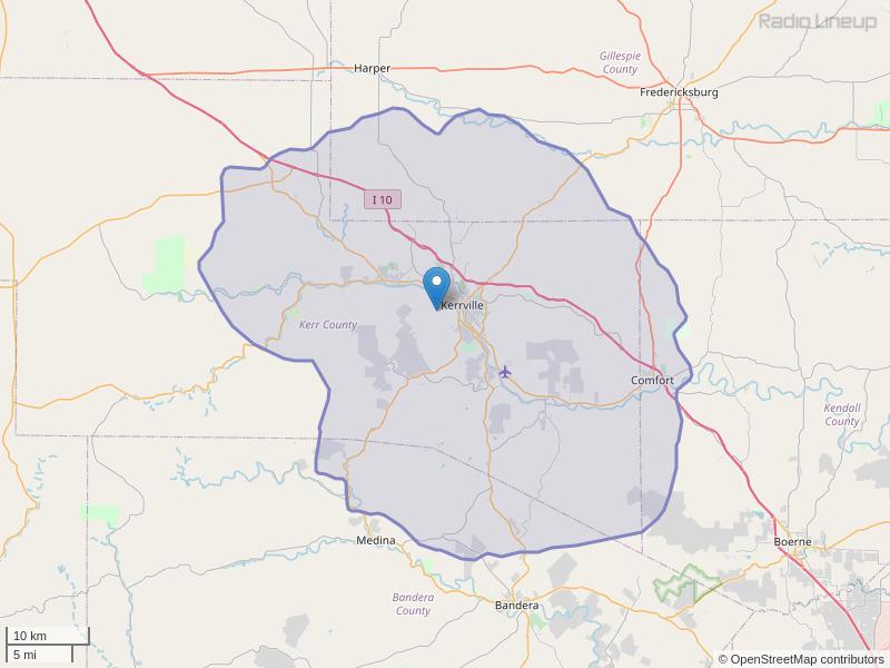KKVR-FM Coverage Map