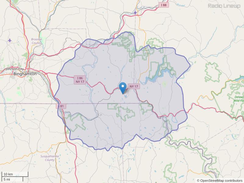 WIYN-FM Coverage Map