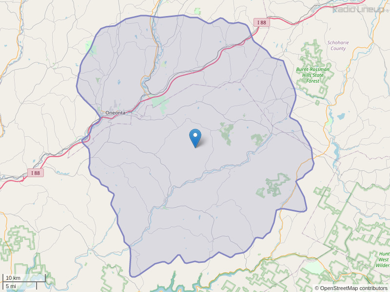 WDHI-FM Coverage Map