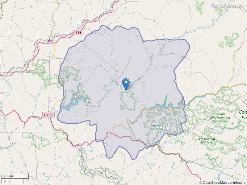 WDLA-FM Coverage Map