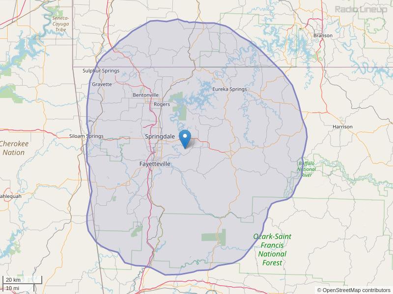 KKEG-FM Coverage Map