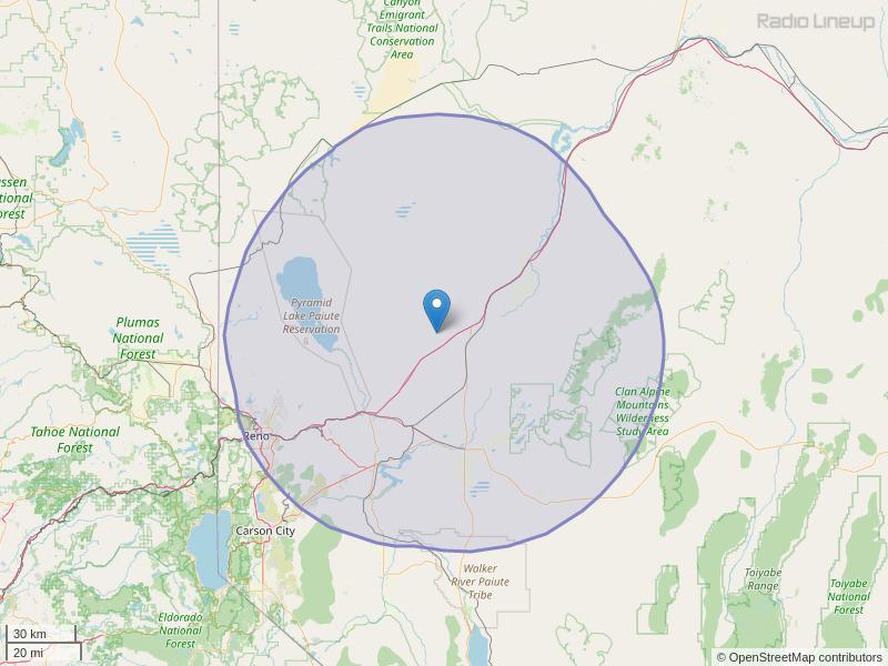 KNEZ-FM Coverage Map