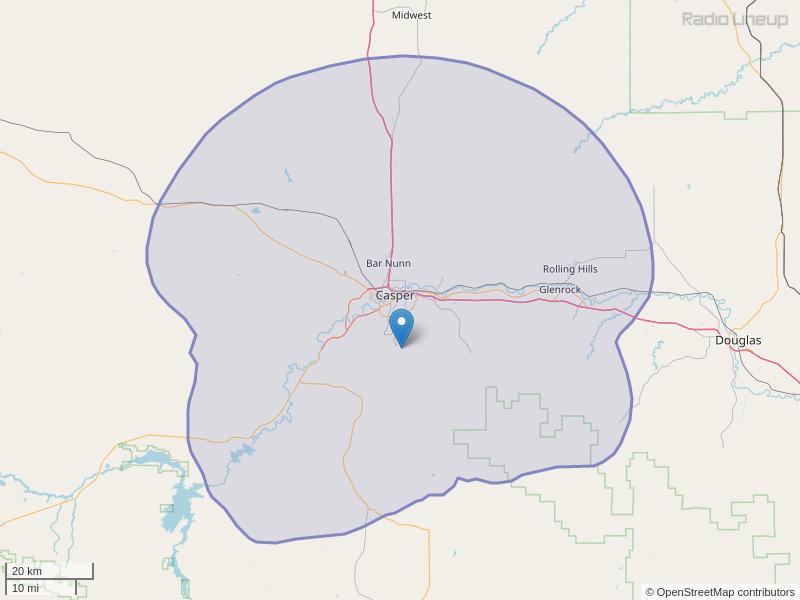 KWYX-FM Coverage Map