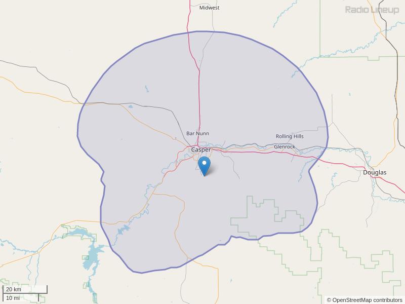 KCYA-FM Coverage Map