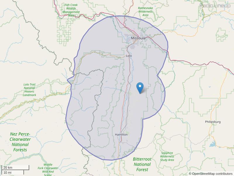 KDXT-FM Coverage Map