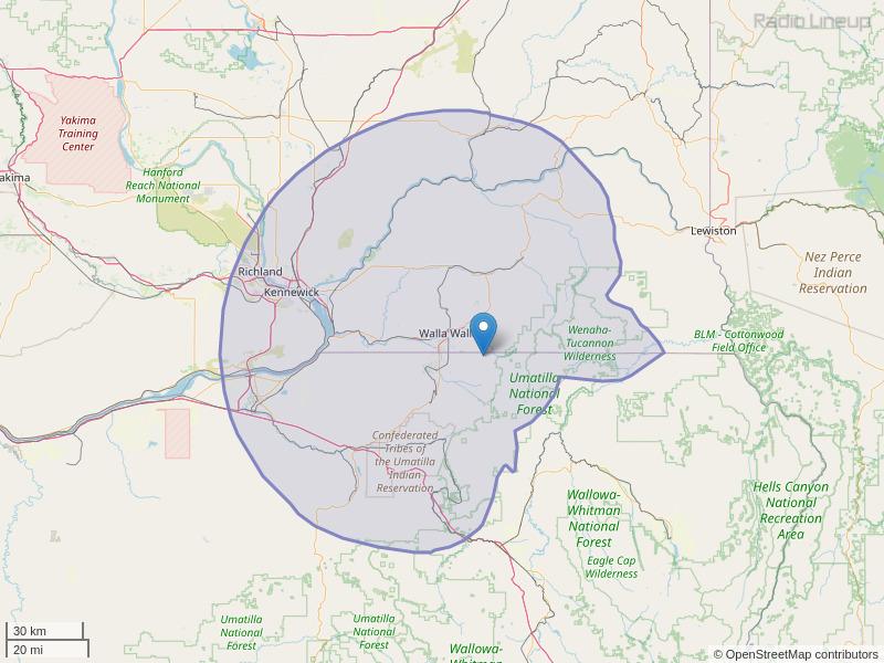 KXRX-FM Coverage Map
