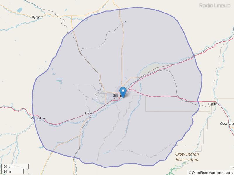 KCTR-FM Coverage Map