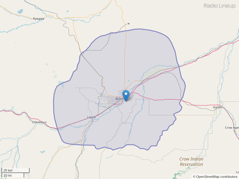 KKBR-FM Coverage Map