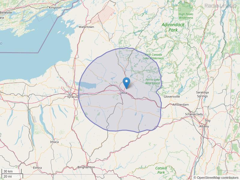 WLZW-FM Coverage Map