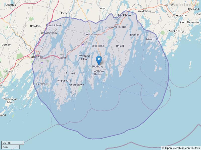 WTBP-FM Coverage Map
