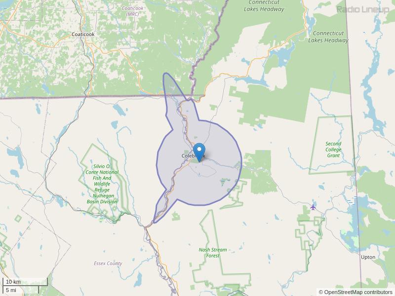 WOXX-FM Coverage Map
