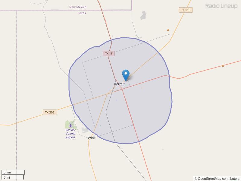 KDCJ-FM Coverage Map