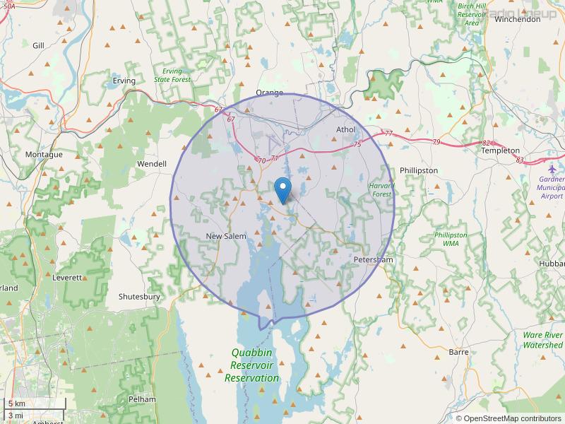 WNGB-FM Coverage Map