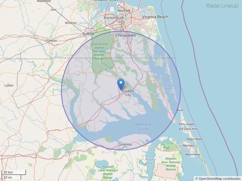 WGTI-FM Coverage Map