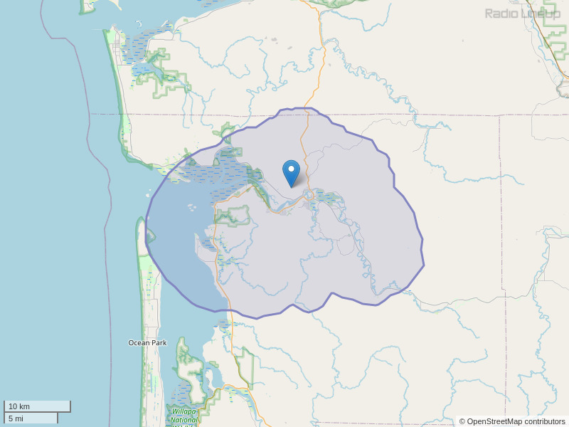 KACW-FM Coverage Map